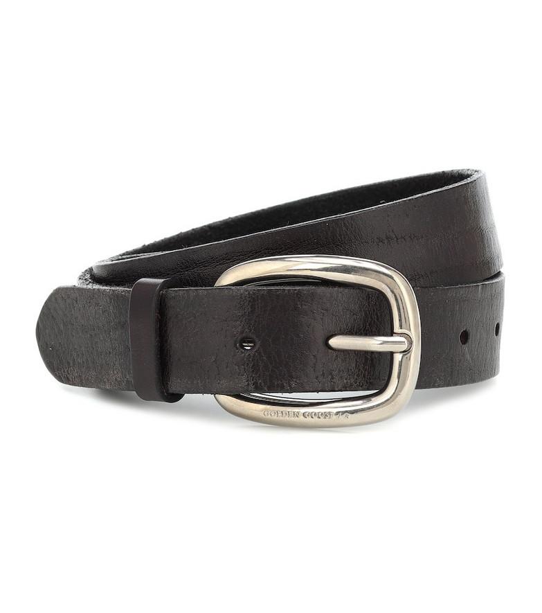 Golden Goose Houston leather belt in black