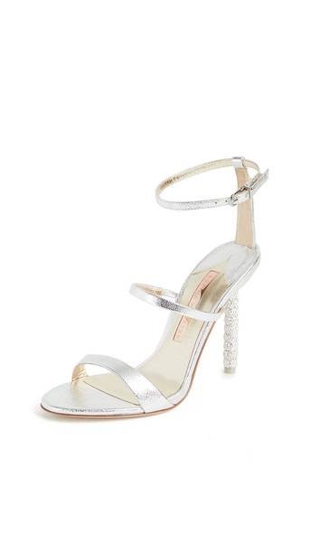 Sophia Webster 105mm Rosalind Crystal Sandals in silver
