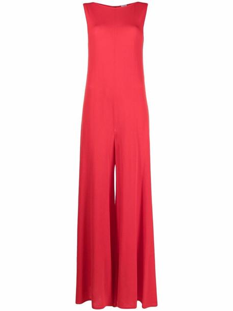 Malo round neck sleeveless jumpsuit - Red