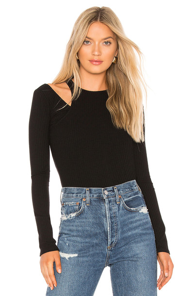 Bailey 44 Happy Together Rib Top in black