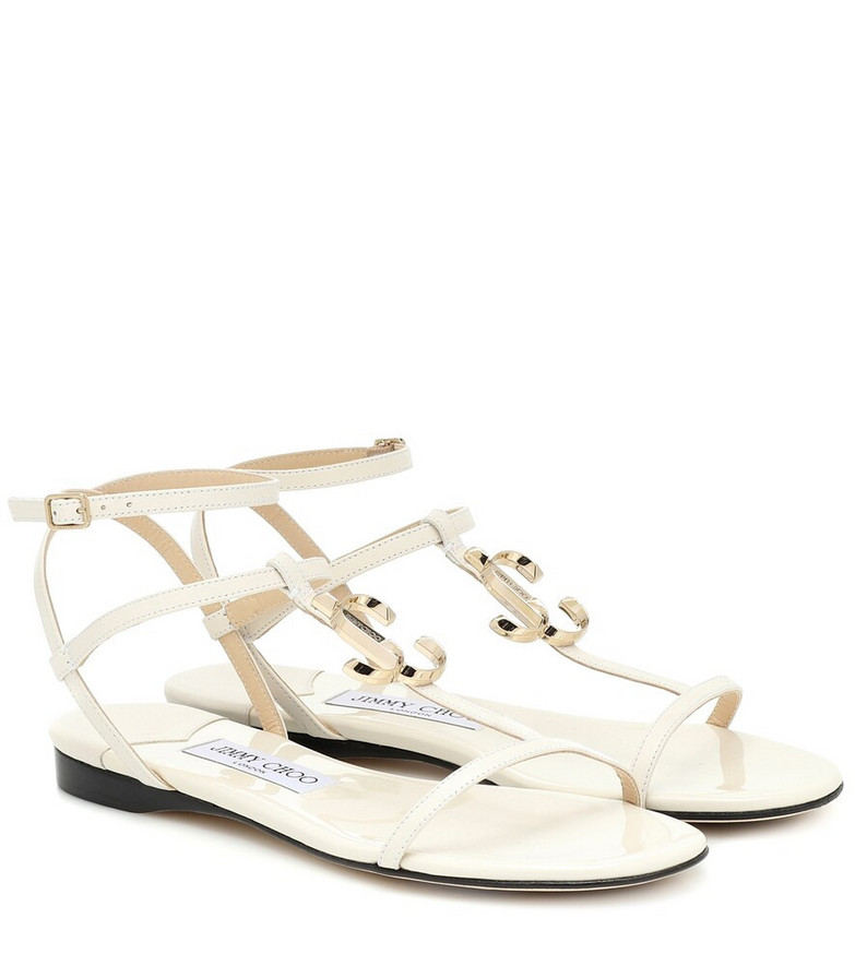 Jimmy Choo Alodie leather sandals in white