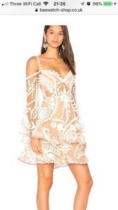 dress,nude dress,illusion,sheer,skater dress