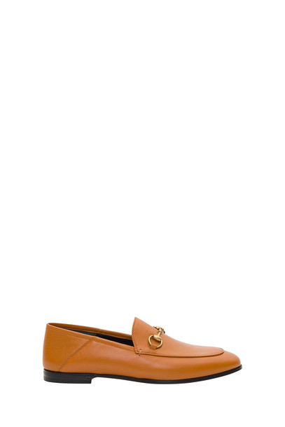 Gucci Brixton Leather Horsebit Loafer in beige