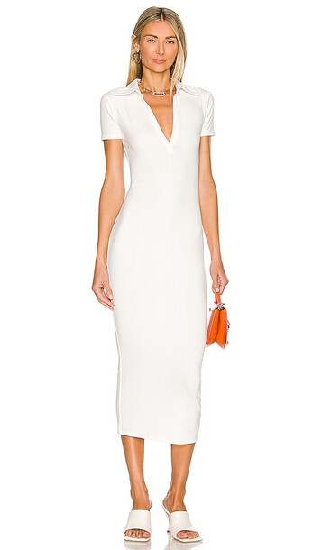 Lovers and Friends Harry Midi Dress in Ivory