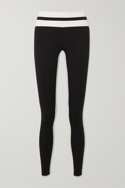 Vaara - Flo Tuxedo Striped Stretch Leggings - Black