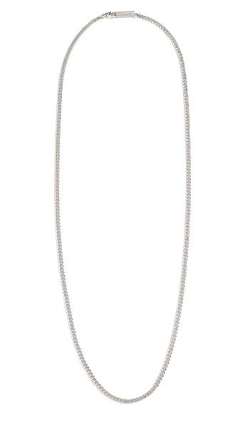 Miansai 3MM Sterling Silver Cuban Chain Necklace