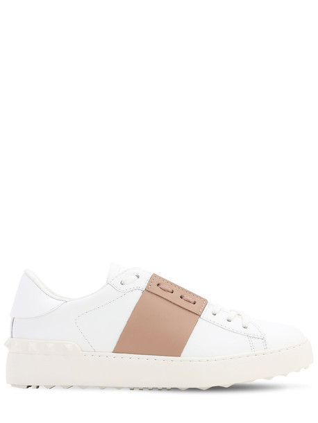 VALENTINO 20mm Open Leather Sneakers in white