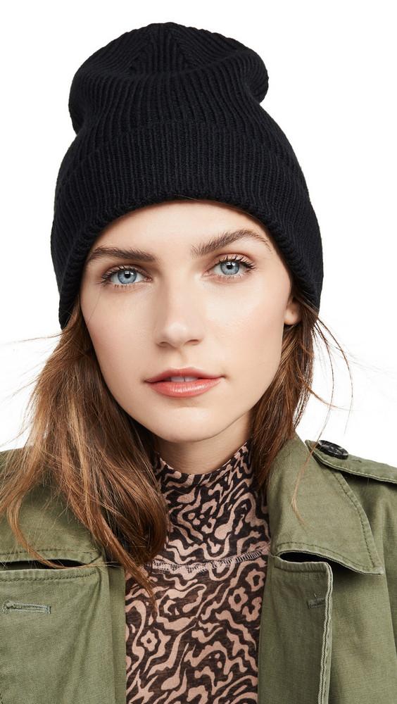 Rebecca Minkoff Milano Cuff Hat in black
