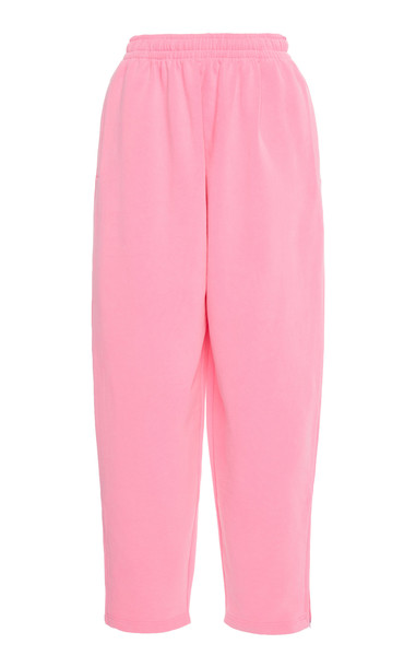 Balenciaga Oversized Fleece Sweatpants in pink