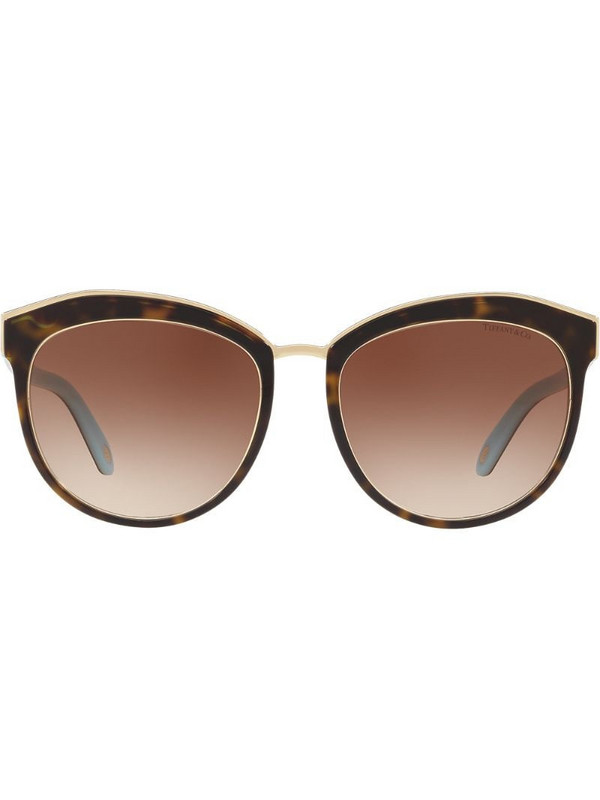 Tiffany & Co Eyewear round tinted sunglasses in brown