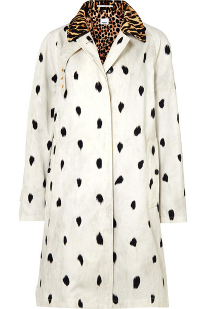 Burberry - Animal-print Cotton-twill Trench Coat - Ivory