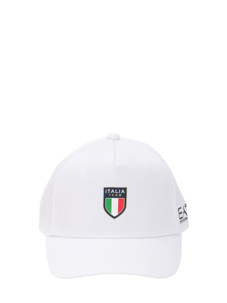 EA7 EMPORIO ARMANI Team Italia Official Baseball Hat in white