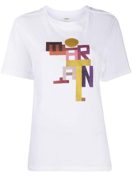 Isabel Marant Étoile Zewel graphic print T-shirt in white