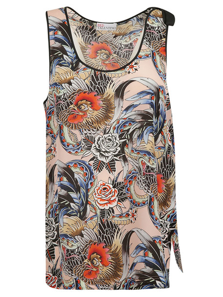 Red Valentino Floral Print Tank Top