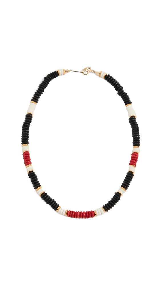 Isabel Marant Bone Bead Necklace in red