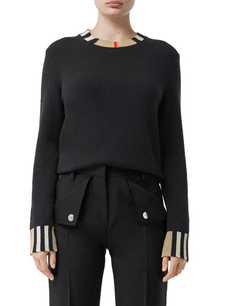 BURBERRY Cashmere Knit Sweater in black