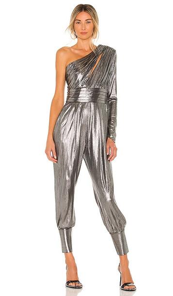 retrofete Timi Jumpsuit in Metallic Silver