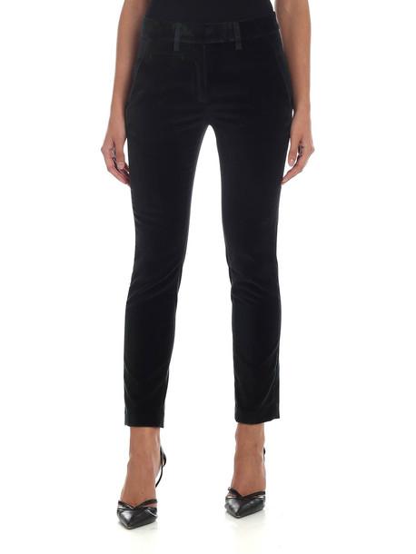 Dondup Perfect Dark Green Velvet Trousers