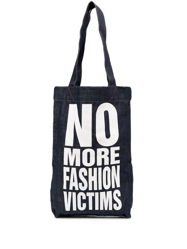 Katharine Hamnett London No More Fashion Victims tote bag in blue
