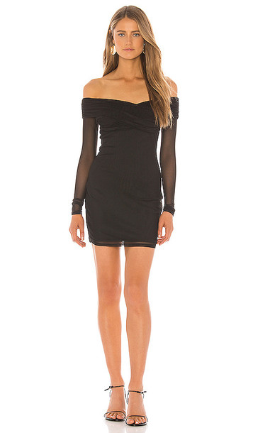 superdown Ramona Mesh Dress in Black