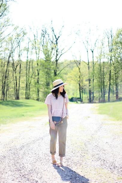 refined couture blogger top pants shoes hat bag