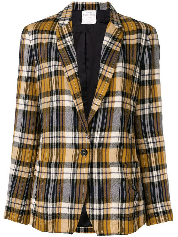 Forte Forte checked blazer in yellow