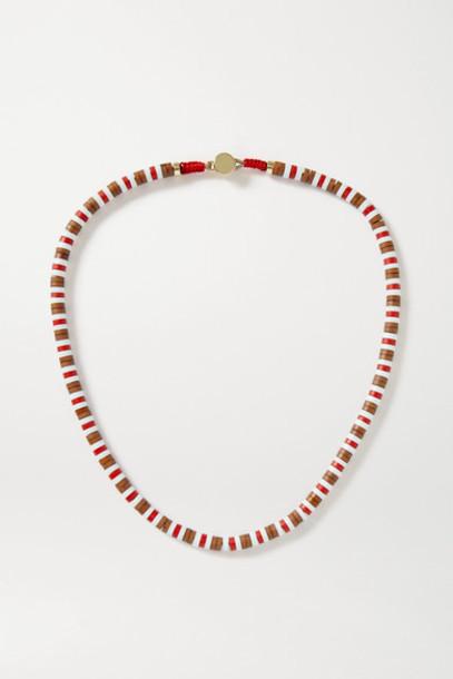 Roxanne Assoulin - U-tube Wood Necklace - Brown