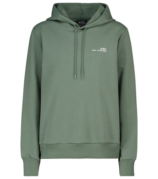 A.P.C. Cotton hoodie in green