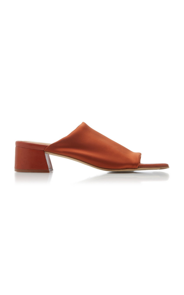 Miista Caterina Lycra Heeled Slide in red