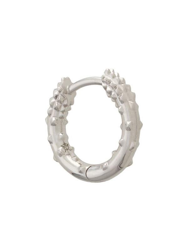 Kasun London mini hoop earring in silver