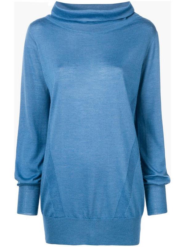 Eleventy knitted sweatshirt in blue