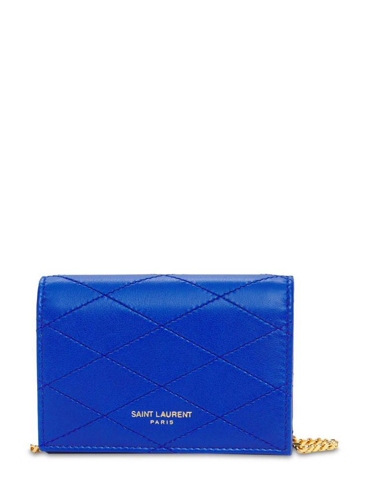 SAINT LAURENT Baby Flap Quilted Leather Bag