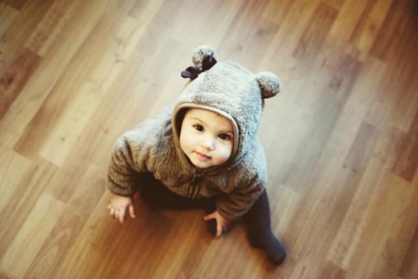 pajamas baby girl cute brown sweater weather