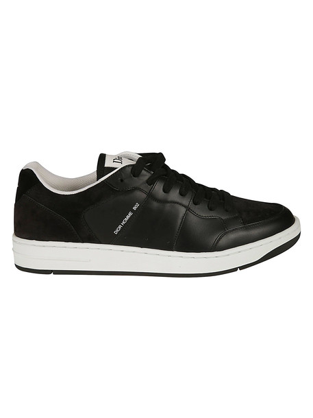 Christian Dior Perforated Toe Cap Sneakers in black / white