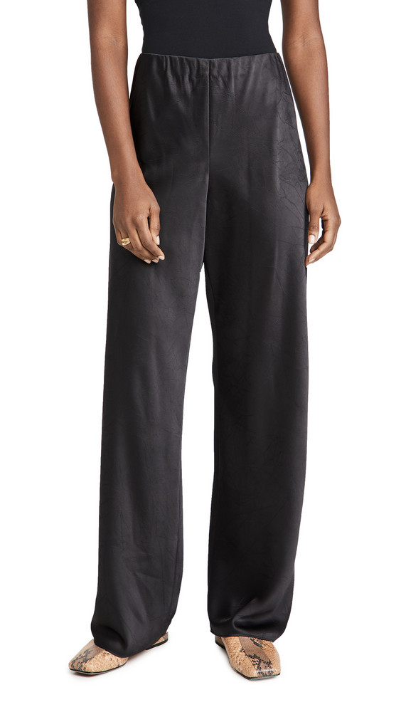Vince Satin Bias Pants in black