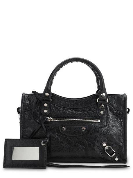 BALENCIAGA Mini Classic City Leather Bag in black