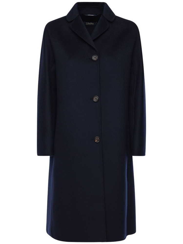 MAX MARA 'S Anna Double Wool Sablé Coat in blue