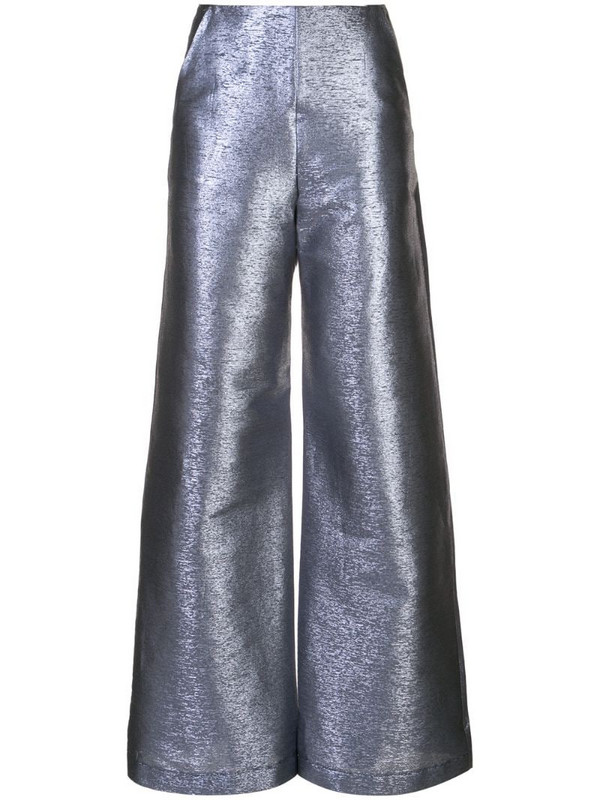 Paula Knorr flared style trousers in blue