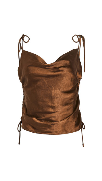Lioness String Along Top in brown