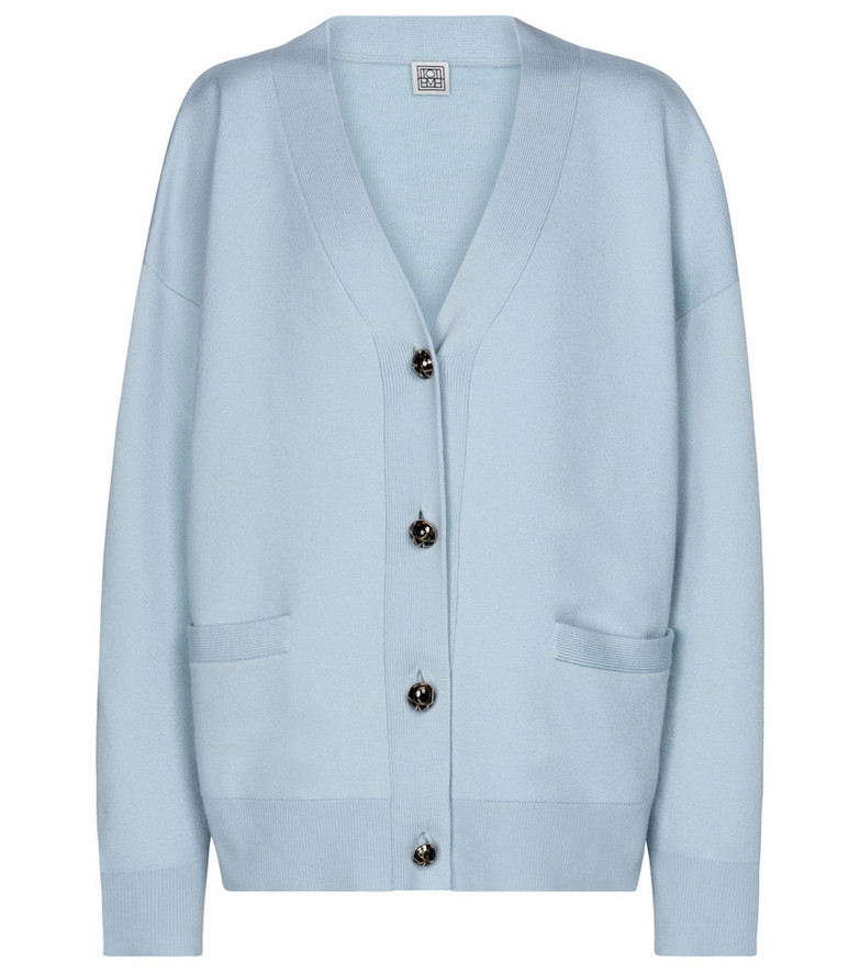 Toteme Exclusive to Mytheresa – Merino wool cardigan in blue
