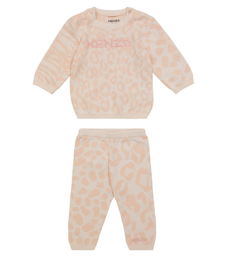 KENZO Kids Baby animal-print cotton sweater and pants set