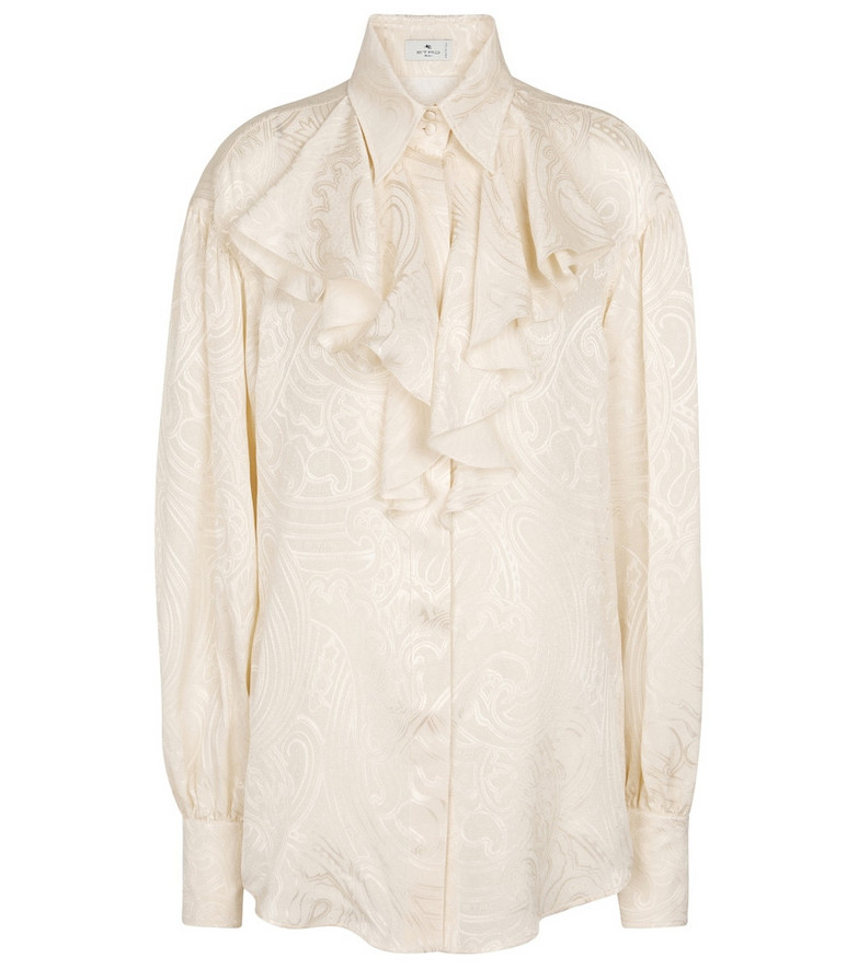 ETRO Paisley silk shirt in white