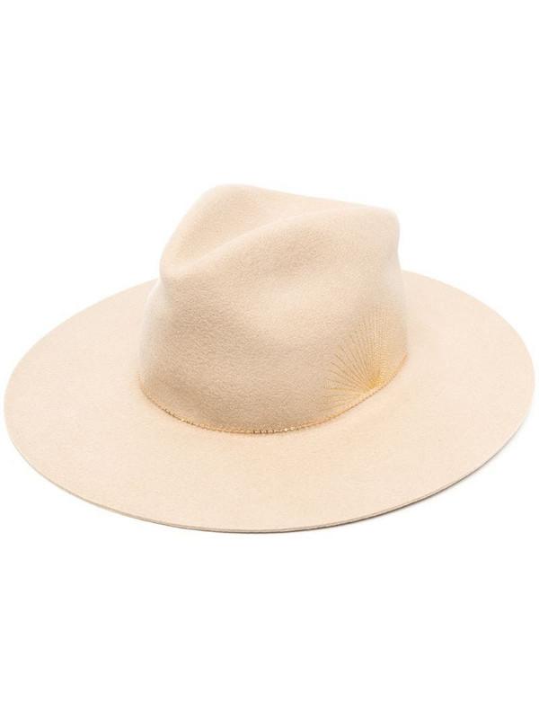 Van Palma Le Basile fedora hat in neutrals