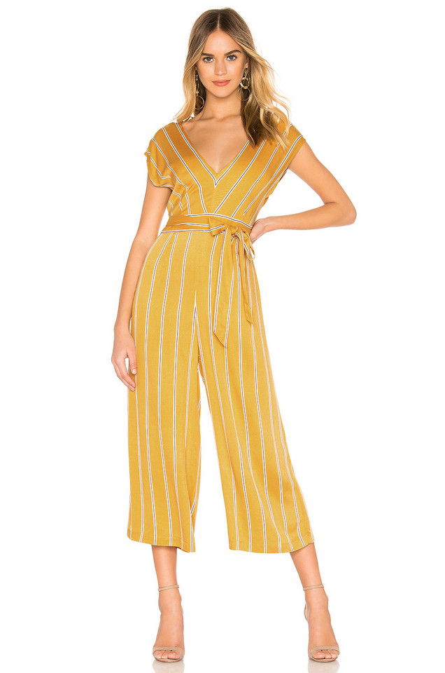 BB Dakota All The Right Moves Jumpsuit in yellow