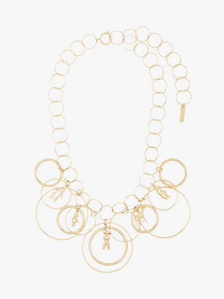 Marni Gold loop chain charm necklace