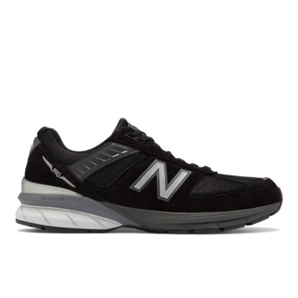 New Balance Made in US 990v5 Men's Made in USA Shoes - Black/Silver (M990BK5)