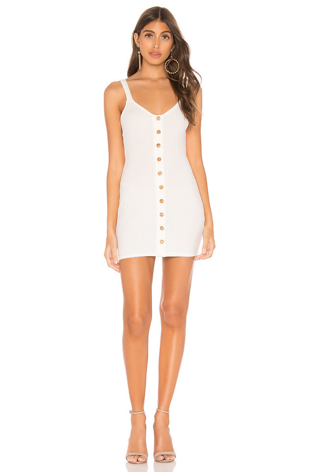 Privacy Please Clarissa Mini Dress in white