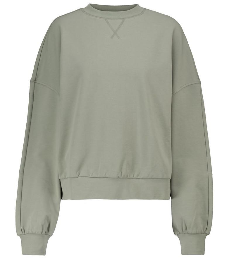 VARLEY Erwin stretch-cotton jersey sweatshirt in green