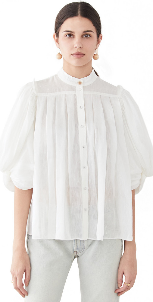 Aje Modest Shirt in ivory