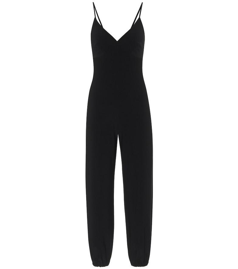 Norma Kamali Slip stretch-jersey jumpsuit in black